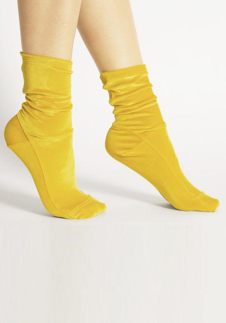 Darner Mustard Velvet Socks
