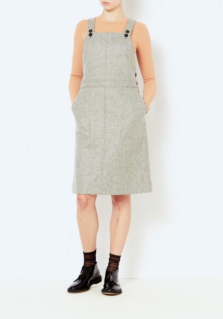 You Must Create Gray Wool Anni Dress