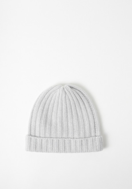 Creatures of Comfort Wide Rib Cashmere Beanie - Gray