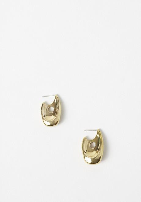 Leigh Miller Brass Illusion Hoops