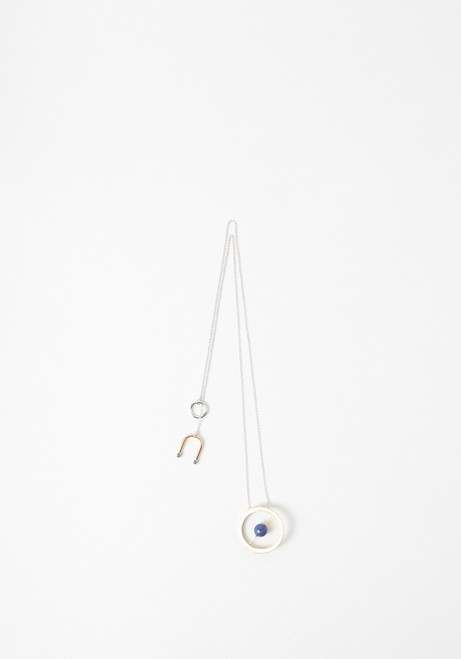 Uribe Willow Long Enamel & Lapis Necklace