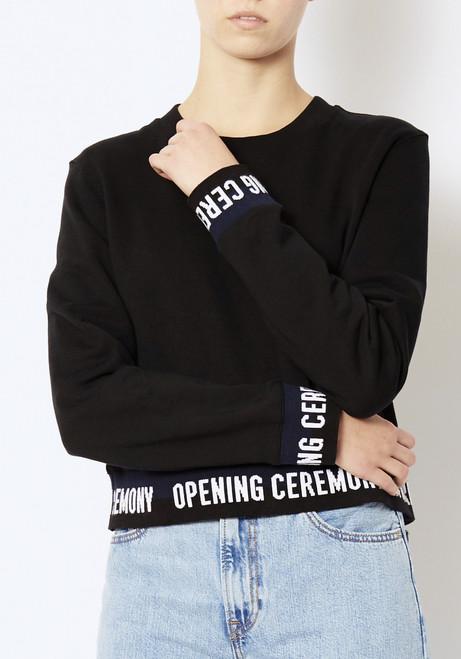 Opening Ceremony Cropped Elastic Logo Sweatshirt