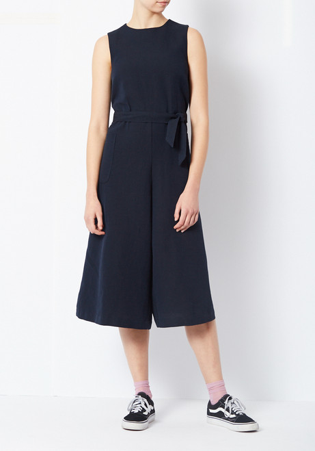 You Must Create Navy Pique Jumpsuit