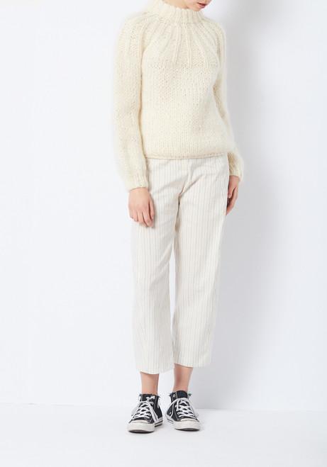 Ganni Cream Julliard Mohair Sweater