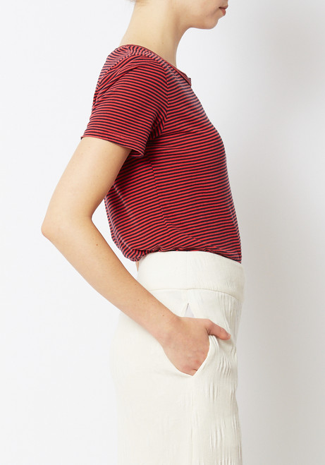 Calder Blake Red Striped Rampling Tee