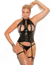 V3147 Bustier w Buckles - Plus Sizes