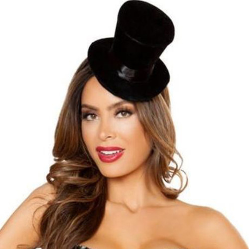 Mini Top Hat for Burlesque Girl & Other Costumes- O/S - Genuine Roma Product