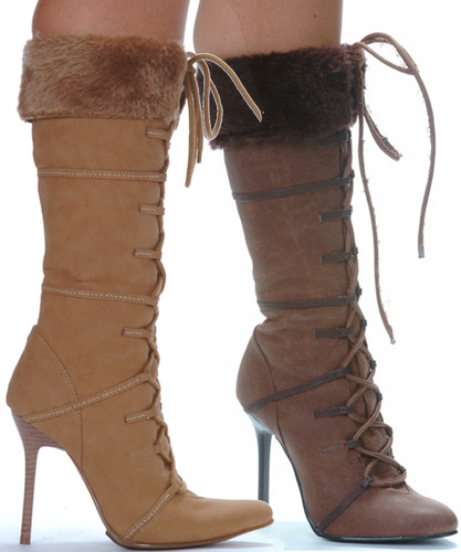Knee High Boot w Faux Fur - Sizes 5 to 12