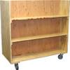 Double-Sided Bookshelf Cart