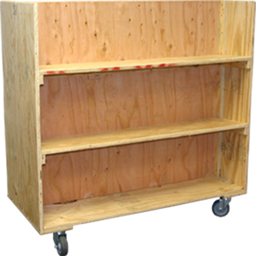 Double-Sided Bookshelf Cart