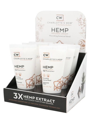 Charlotte's Web - CW Hemp Infused Cream 2.5 oz.