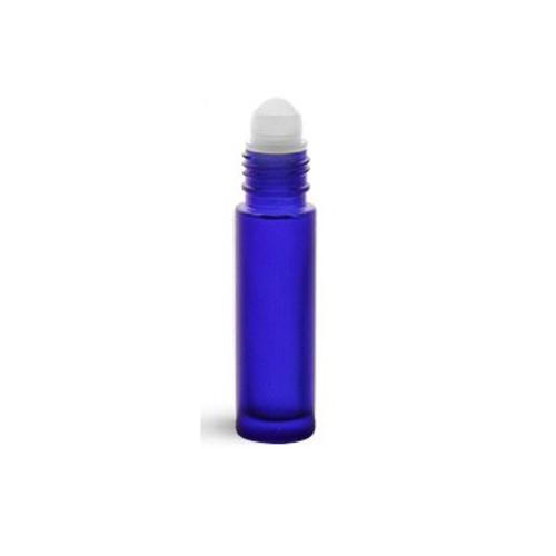 .35 oz Colbalt Blue Rollerball bottle ball top shown