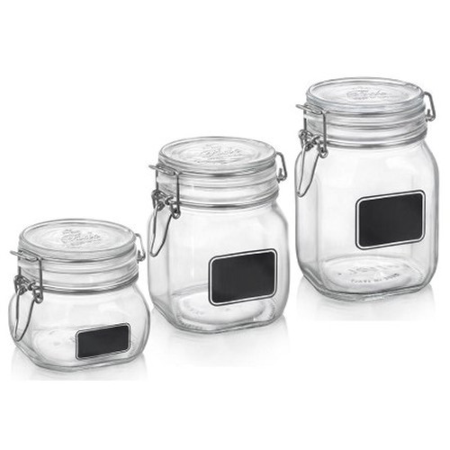 Fido Square Chalk Label Jars