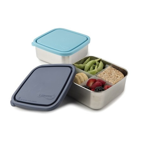 Divided To-Go Container - Medium - 32 oz - Ocean & Sky