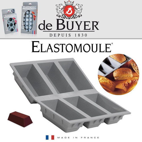 de Buyer Elastomoule Silicone Mold - 6 Portion Loaves