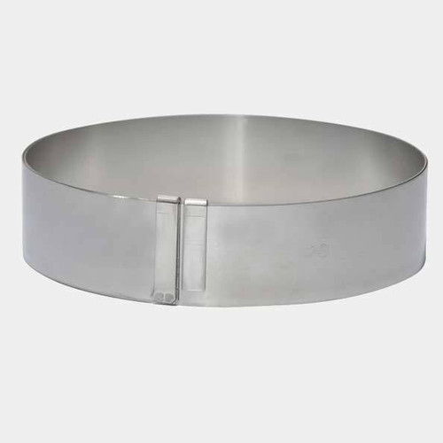 de Buyer Spring Stainless Steel Expandable Pastry Ring - Large