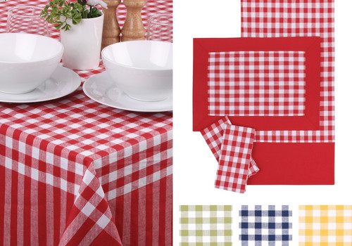 Ladelle Cotton Green Gingham Placemat