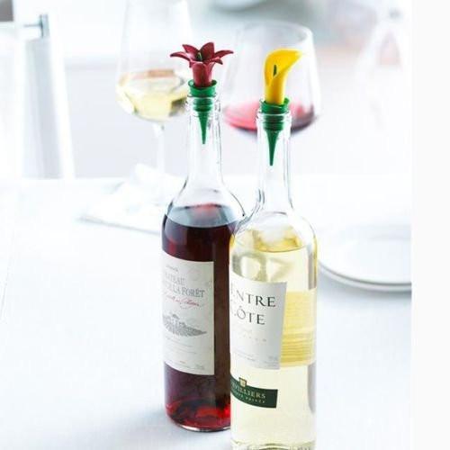 Trudeau Wine Bottle Stopper-Orange (TR 0971533-Orange)