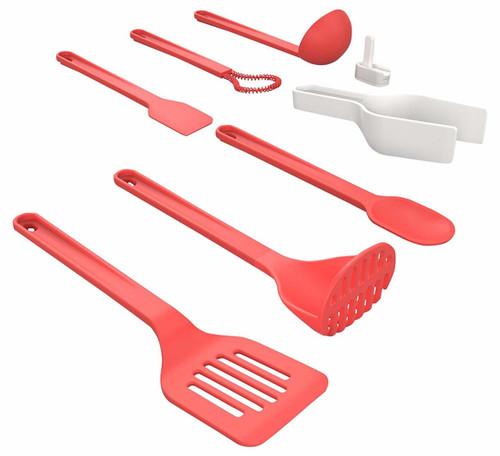 Venn Stack 8 Piece Utensil Set- Red (CB VNUTSETRED)