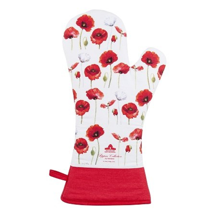 Ashdene Poppies Oven Glove Mitt