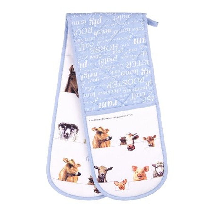 Ashdene Farmyard Friends Double Oven Glove