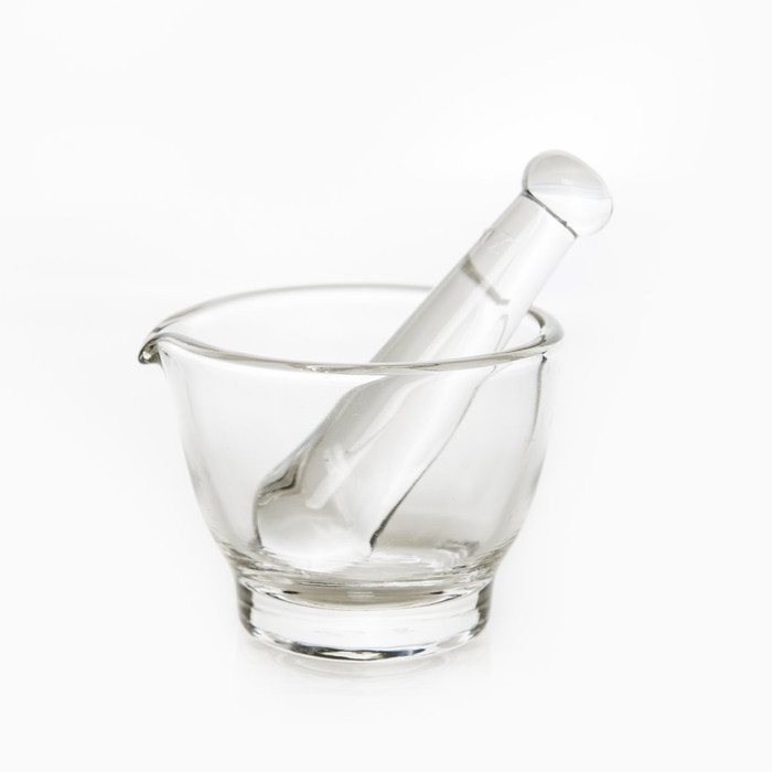 Mosser Glass Mortar & Pestle - Crystal - 2 oz