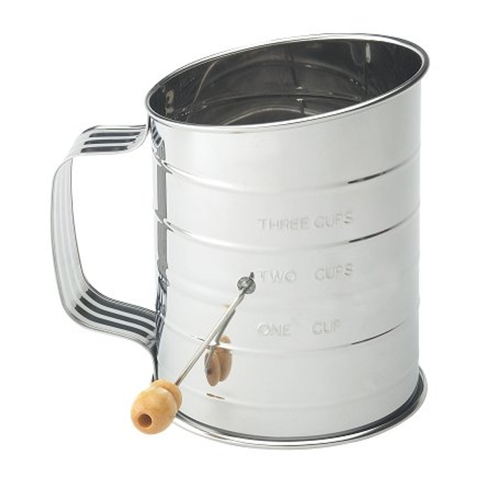 Mrs. Anderson's Baking 3-cup Stainless Steel Flour Sifter