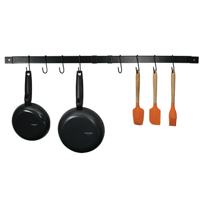 Range Kleen Pot Rack Expanding Bar Black Enamel