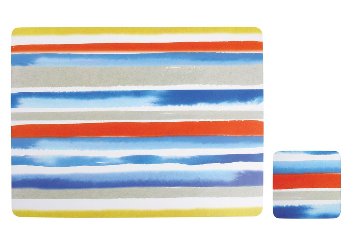 Ladelle Dine Watercolor Placemat Set of 4