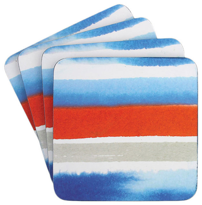 Dine by Ladelle Watercolor Collection - Set of 4 Coasters