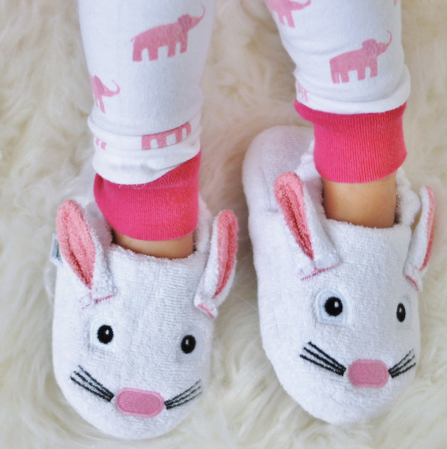 Bunny slippers bedtime