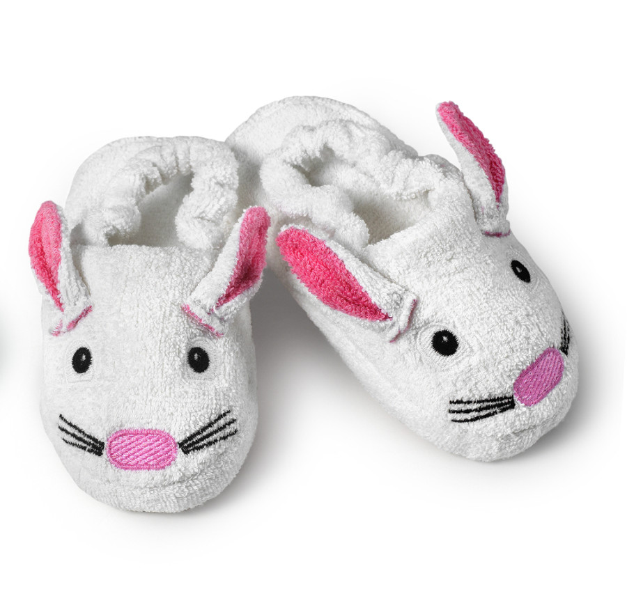 children's bunny slipper after bath or bedtime