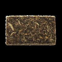 Yellow Bird raw puerh tea brick from The Jasmine Pearl Tea Co.
