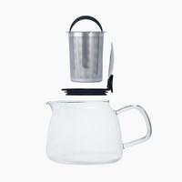 Bell glass teapot parts.