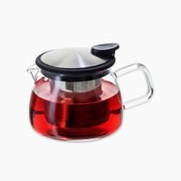 16-oz Bell glass teapot.