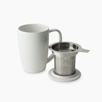 FORLIFE Curve Tall Tea Mug with Infuser (Parts)