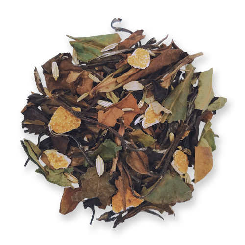 Orange Fennel loose leaf white tea from The Jasmine Pearl Tea Co.