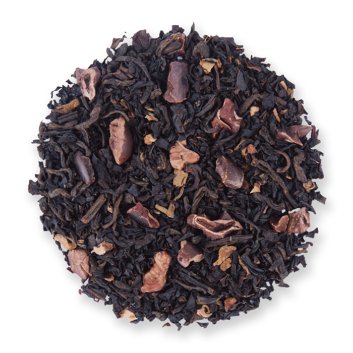 Cocoa Deluxe black loose leaf tea from The Jasmine Pearl Tea Co.