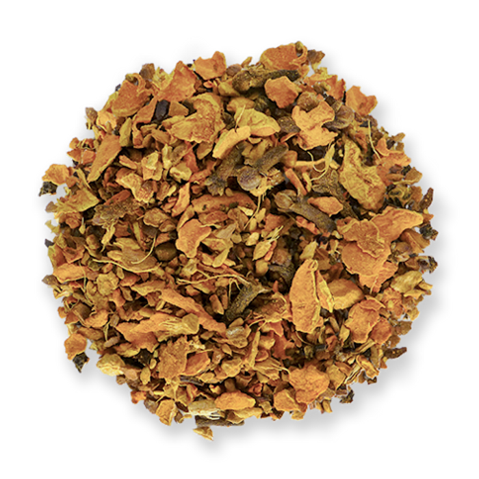 Golden Fire loose leaf herbal tea blend from The Jasmine Pearl Tea Co.