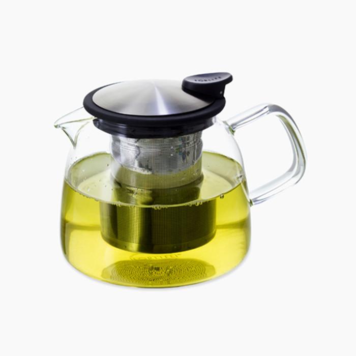 24-oz Bell glass teapot.