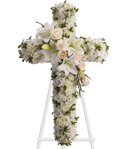 White Memories Standing Cross
