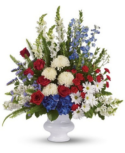 Patriotic Memories Urn Arrangement