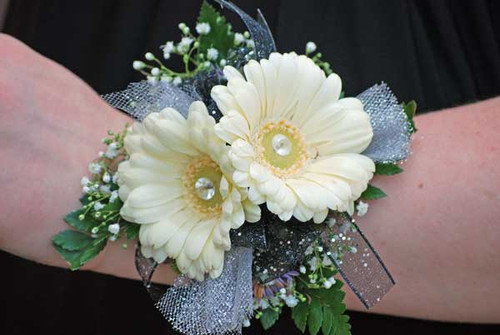 Double Gerber Daisy Wrist Corsage