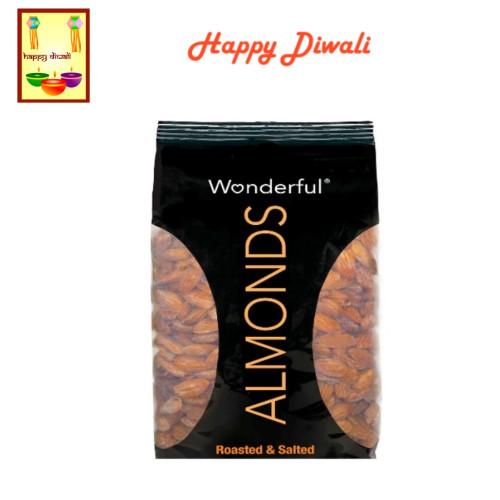 Diwali  Dry Fruits - Almonds with Diwali Greeting Card