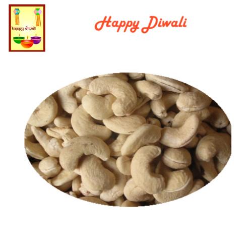 Diwali  Dry Fruits - Cashews with Diwali Greeting Card