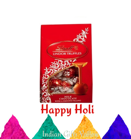 Holi Gifts - Lindt Lindor Chocolates with Assorted Holi Colors