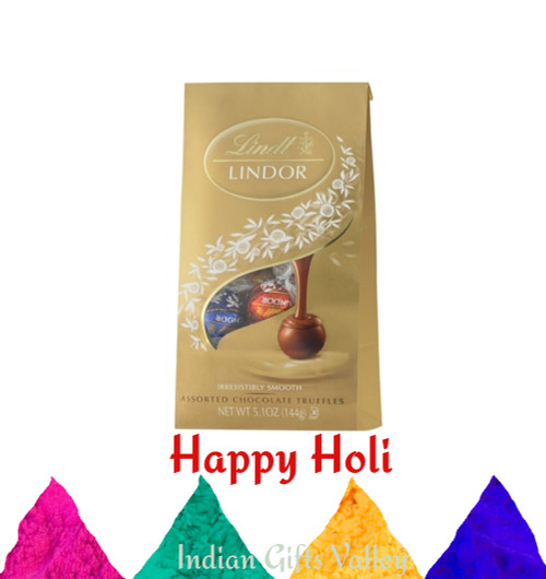 Holi Gifts - Lindt Assorted Chocolates with Assorted Holi Colors