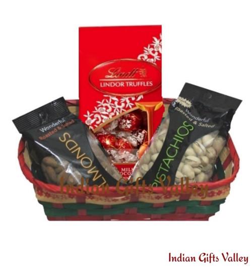 Gift Hamper - Lindt Lindor Truffles, Almonds and Pistachios
