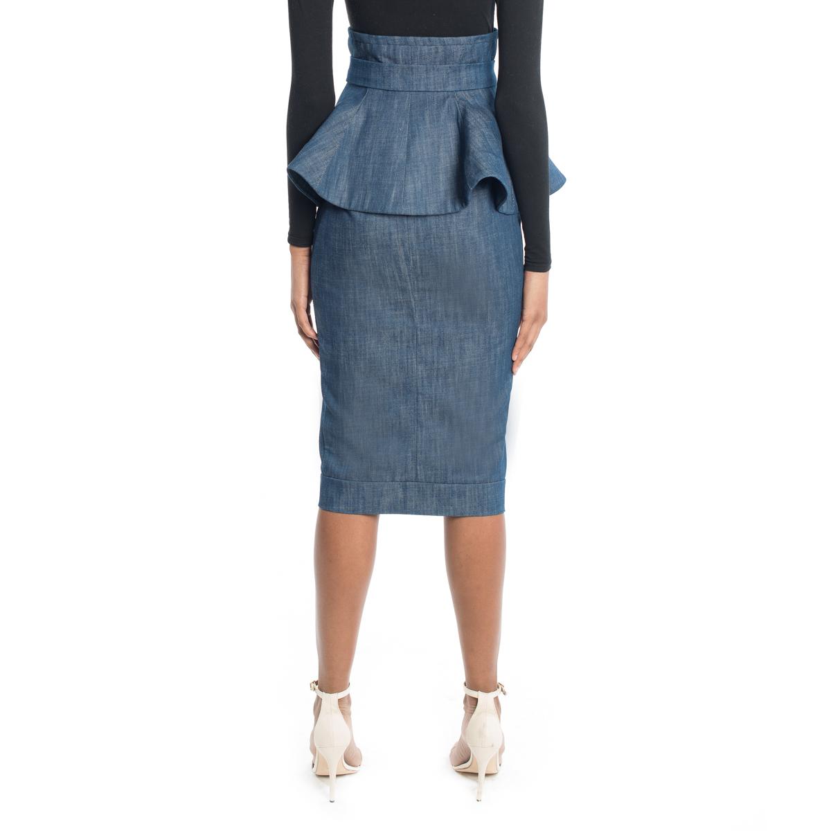 Cleopatra Peplum Pencil Skirt