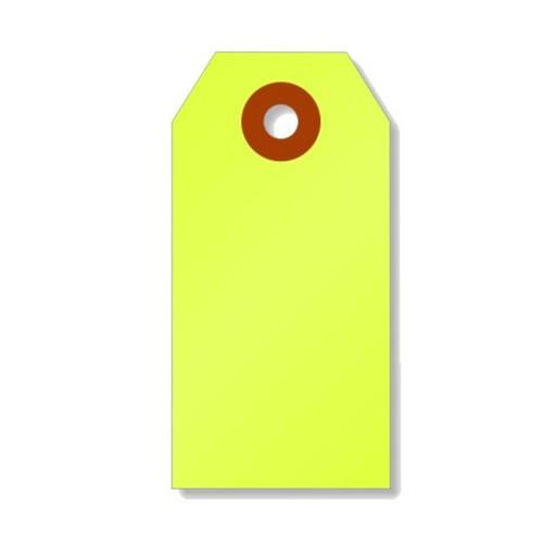 Mini Shipping Paper Tags - 1.375 x 2.75 - Neon Yellow